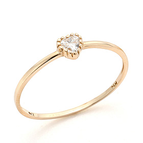 14K / 18K Heart Icon Gold Ring