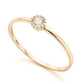 14K / 18K Beauty Basic Gold Ring