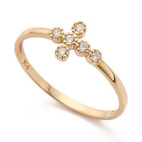 14K / 18K Glim Cross Gold Ring