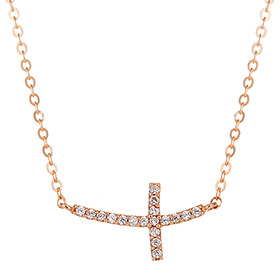 14K / 18K Sexy Cross Necklace