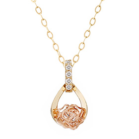 14K Rose Dew Necklace (overnightdelivery)