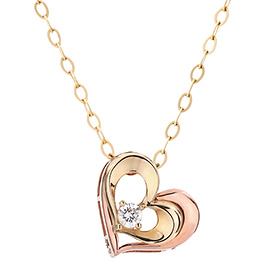14K / 18K Windy Heart Necklace [overnightdelivery]