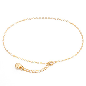 14k / 18k wave tube anklet heartline [overnightdelivery]