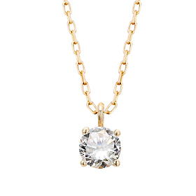 "<b><font color=""008997"" >[Part 2 Modern Emotions]</font></b> <br> 14K / 18K crown natural diamond necklace"