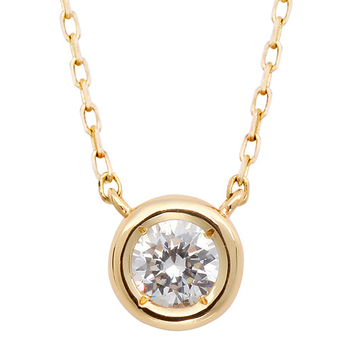 "<b><font color=""008997"" >[Part 2 Modern Emotions]</font></b> <br> 14K / 18K Full Moon Natural Diamond Integrated Necklace"
