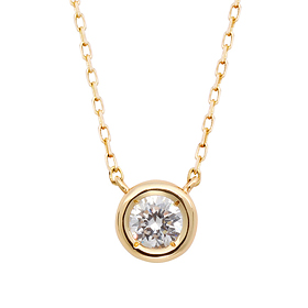 "<b><font color=""008997"" >[Part 2 Modern Emotions]</font></b> <br> 14K / 18K Full Moon Natural Diamond Integrated Necklace"