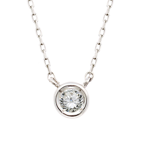 "<b><font color=""b400b0"" >[Part 1 Contemporary Emotion]</font></b> <br> 14K / 18K Full Moon Natural Diamond Integrated Necklace"