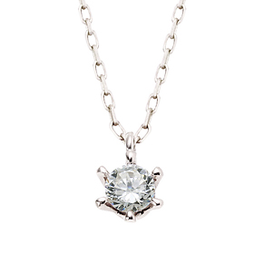 "<b><font color=""b400b0"" >[Part 1 Contemporary Emotion]</font></b> <br> 14K / 18K Princess Natural Diamond Necklace [overnightdelivery]"