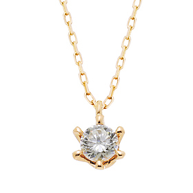 "<b><font color=""008997"" >[Part 2 Modern Emotions]</font></b> <br> 14K / 18K Princess Natural Diamond Necklace"