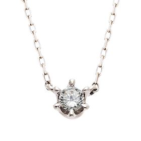 "<b><font color=""b400b0"" >[Part 1 Contemporary Emotion]</font></b> <br> 14K / 18K Princess Native Diamond Necklace"