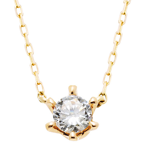 "<b><font color=""008997"" >[Part 2 Contemporary Emotion]</font></b> <br> 14K / 18K Princess Natural Diamond Integrated Necklace"