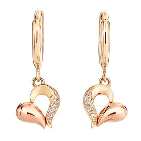 14K / 18K Heart Drop Earring [overnightdelivery]