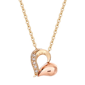 14K / 18K Heart Droplet Necklace [overnightdelivery]