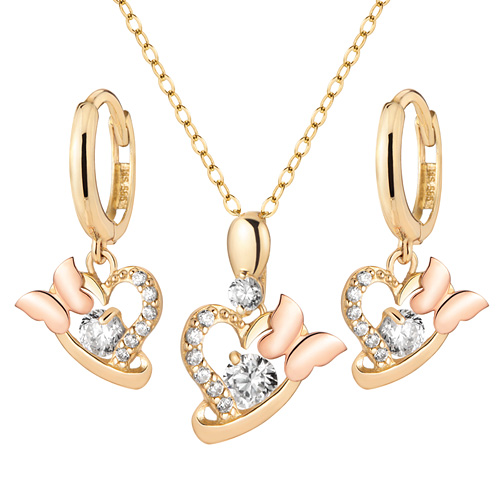 14K / 18K Tinkerbell set [Necklace + earring] [overnightdelivery]