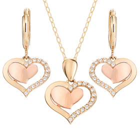 14K / 18K Barbie Love set [Necklace + earring] [overnightdelivery]