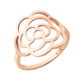 14K / 18K Lavigne Rose ring + shopping bag present