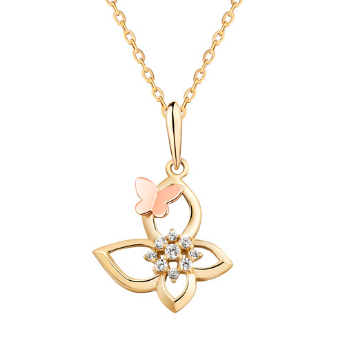 14K / 18K Butterfly Garden Necklace