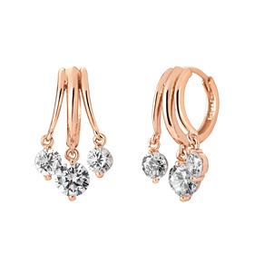 14K / 18K triple link earring