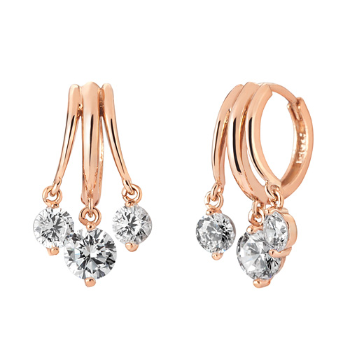 14K / 18K triple link earring