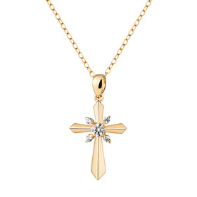 14k / 18k Classic Cross Necklace [overnightdelivery]