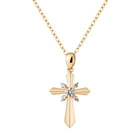 14k / 18k Classic Cross Necklace [overnightdelivery]