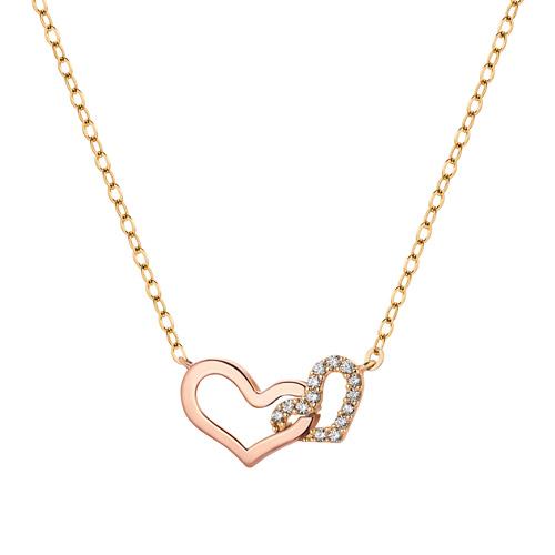14K / 18K Twin Heart Necklace