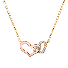 14K / 18K Twin Heart Necklace