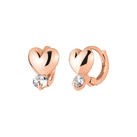 14K / 18K heart-shaped earring / earrings