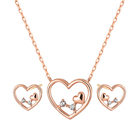 [Memorial Day] 14K Love Me Necklace set [Necklace + earring] [overnightdelivery]