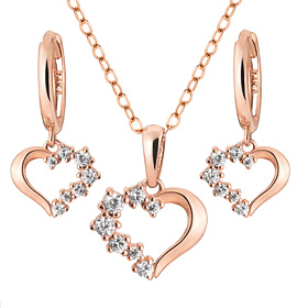 14K / 18K Baby Heart set [Necklace + earring] [overnightdelivery]