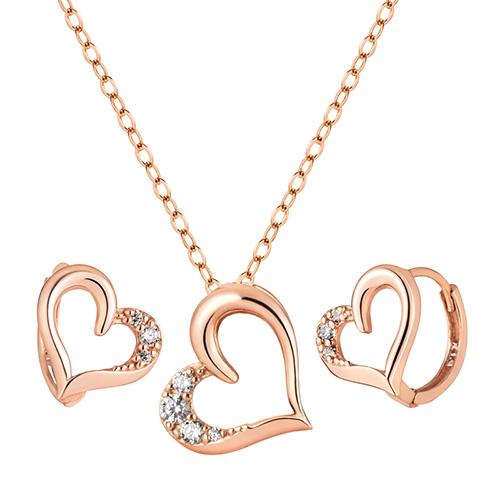 14K / 18K Love Set [Necklace + earring] [overnightdelivery]