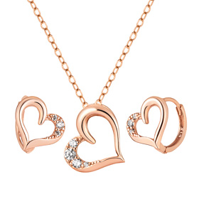 14K / 18K Love Set [Necklace + earring] [overnightdelivery]