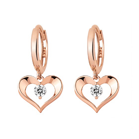 14K / 18K Heart Way Earring [overnightdelivery]