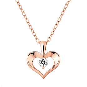 14K / 18K Heart Way Necklace [overnightdelivery]