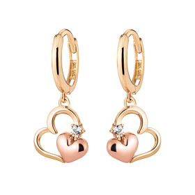 14K / 18K Heart Sweet earring [overnightdelivery]