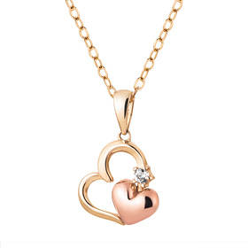14K / 18K Heart Sweet Necklace [overnightdelivery]
