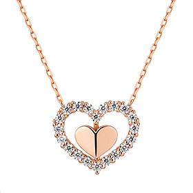 14K / 18K Mind Heart Necklace [overnightdelivery]