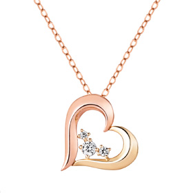 14K / 18K Half Love Necklace [overnightdelivery]