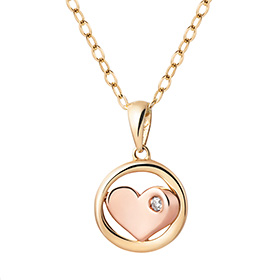 14K / 18K Love Circle Necklace [overnightdelivery]