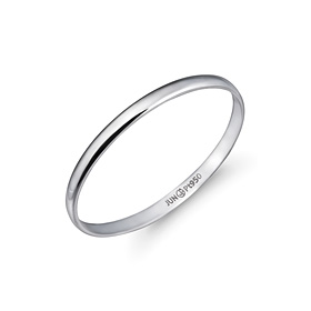 Platinum [Pt950] 1g simple Eng Platinum Ring