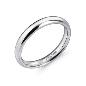 Platinum [Pt950] 3.0mm Volume Rolling Platinum Ring
