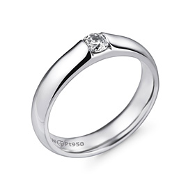 Platinum [Pt950] 4.0mm Part 2 [modern] diamond Volume not rolled platinum ring