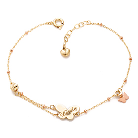 14K / 18K Lovely Butterfly Bracelet