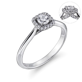 Platinum [Pt950] Lisa 3 parts [Wujin, GIA] diamond platinum ring