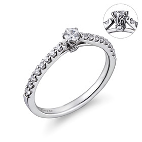 Platinum [Pt950] Jay Part 1 [modern] diamond Platinum Ring