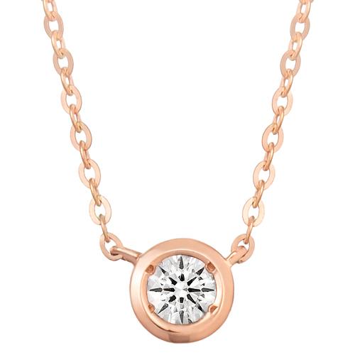 """<b><font color=""""b400b0"""" >[Part 1 Contemporary Emotion]</font></b> <br> 14K18K Moon River Part 1 Diamond Necklace"""