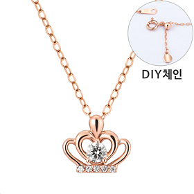 "<b><font color=""b400b0"" >[Part 1 Contemporary Emotion]</font></b> <br> 14K / 18K Heart Tiara Part 1 diamond Necklace [DIYchain] [overnightdelivery]"