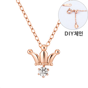 "<b><font color=""b400b0"" >[Part 1 Contemporary Emotion]</font></b> <br> 14K / 18K Royal Tiara Part 1 diamond Necklace [DIYchain]"