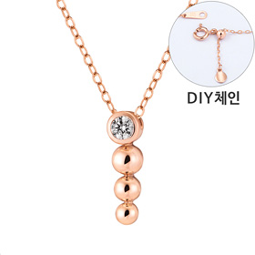 "<b><font color=""b400b0"" >[Part 1 Contemporary Emotion]</font></b> <br> 14K / 18K Circle Lava Part 1 diamond Necklace [DIYchain] [overnightdelivery]"