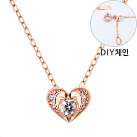 "<b><font color=""b400b0"" >[Part 1 Contemporary Emotion]</font></b> <br> 14K / 18K Bling Love Part 1 diamond Necklace [DIYchain] [overnightdelivery]"